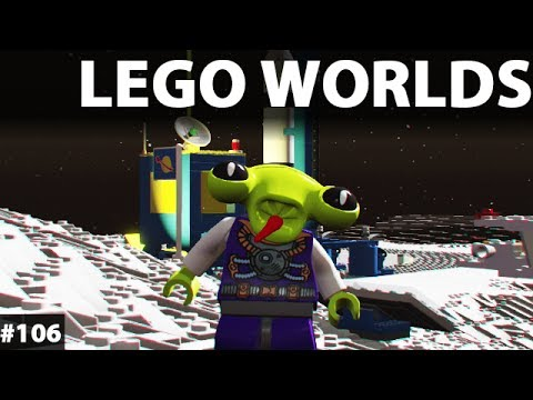 LEGO WORLDS Game Gameplay Walkthrough Classic Space DLC Pac Alien #105