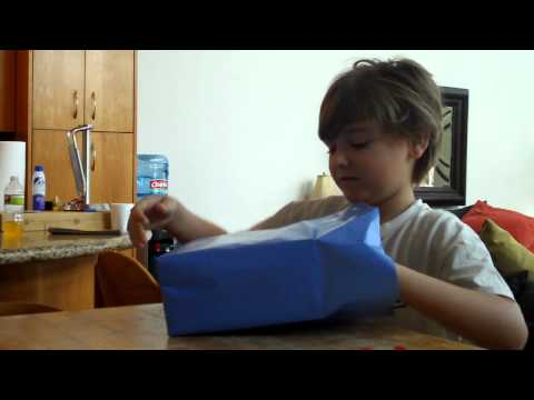 Isaac gets an ipod touch for his birthday