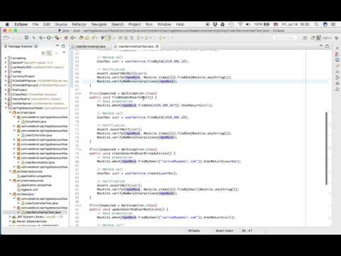 Unit Testing Spring Services Example - YouTube