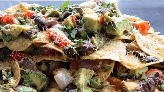 Grilled Flank Steak Nachos Recipe -on A Lion Gas Grill - Bbq Guys- Football Game Day Snack