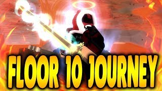 JOURNEY TO FLOOR 10? Returning to Sword Burst 2 in Roblox? | iBeMaine
