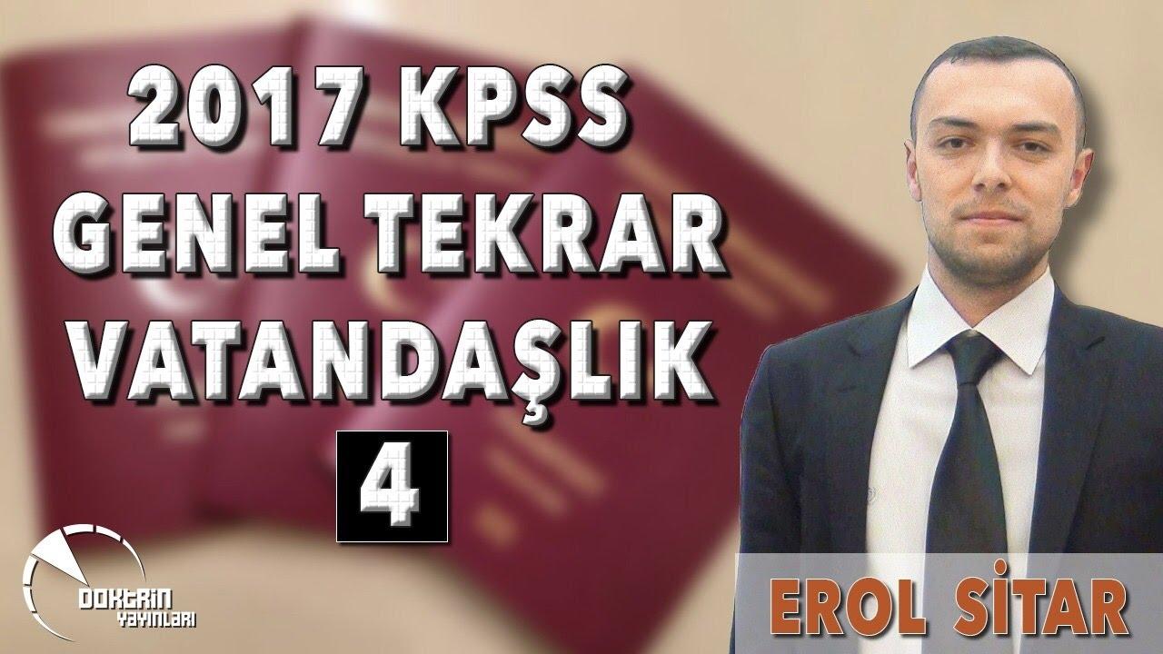 VATANDAŞLIK GENEL TEKRAR - 4 / EROL SİTAR