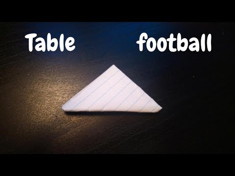 How To Make A Paper Table Football | Flick Football | Origami Step By Step Tutorial