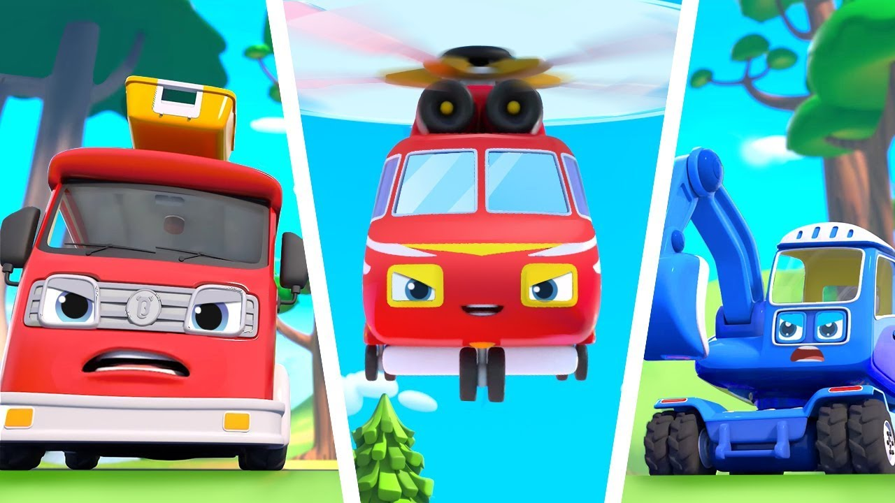 Super Truck Rescue Team | Fire Truck, Ambulance | Play Safe | Nursery Rhymes | Kids Songs | BabyBus