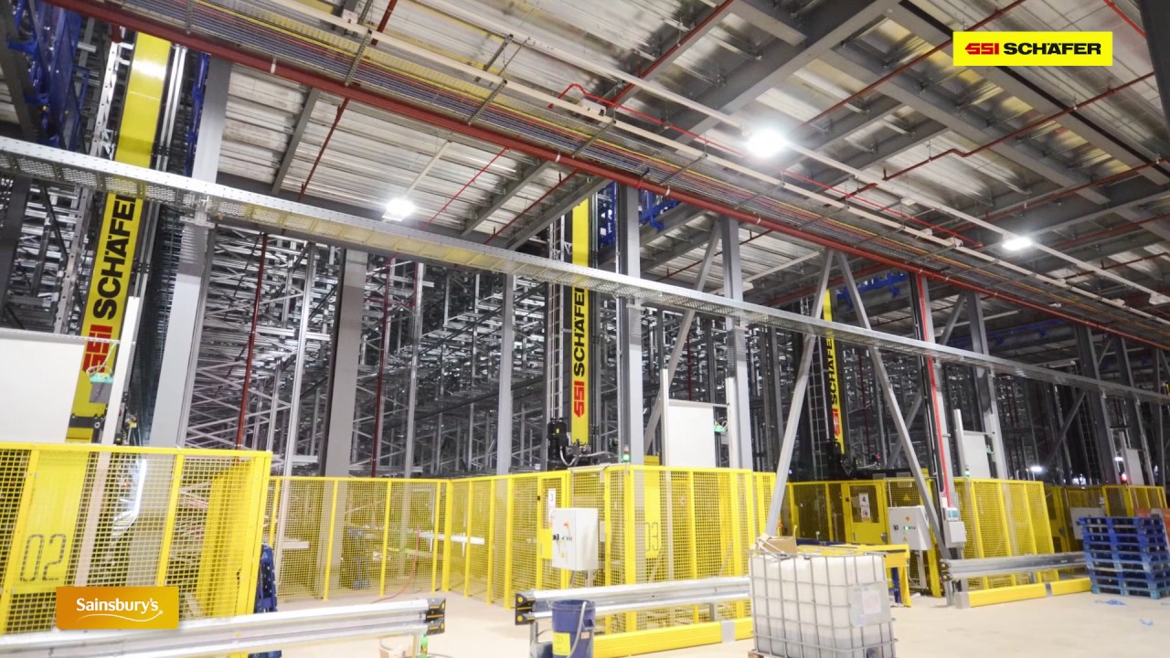 National Distribution Center For Sainsburys Ssi Schaefer Youtube