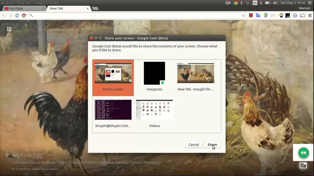 install chromecast extension ubuntu