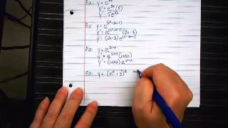 Derivatives of Exponential Functions 1