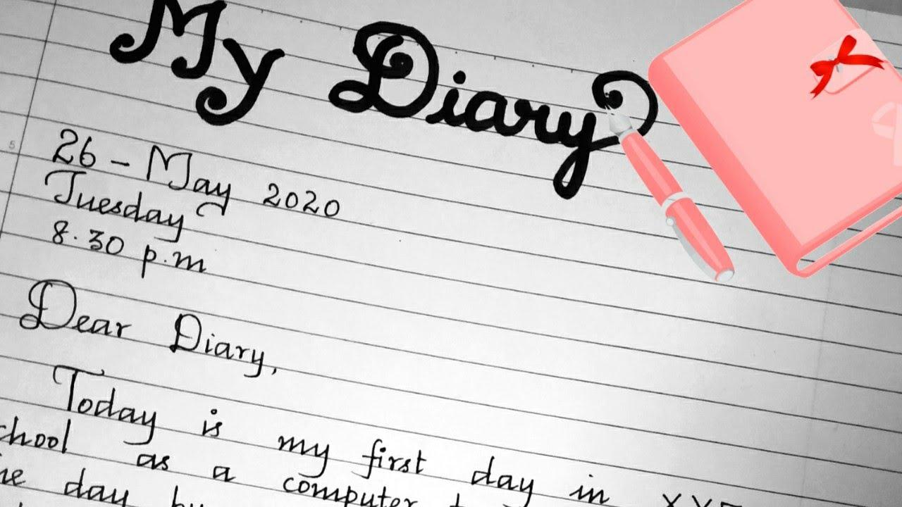 Diary Entry/My personal diary writing/Diary entry format/handwriting/best  handwriting/hand lettering