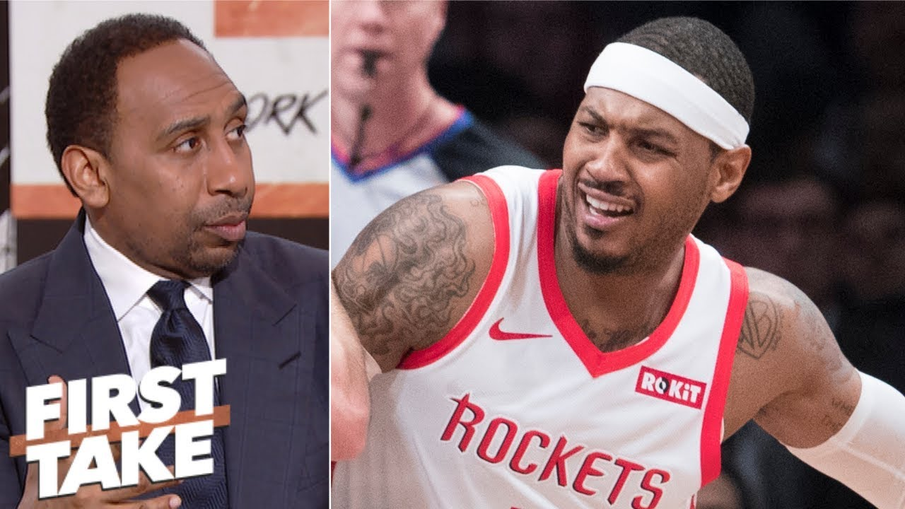 dc4bff8e453 Carmelo Anthony should go to Lakers, Heat or just retire - Stephen A. |  First Take