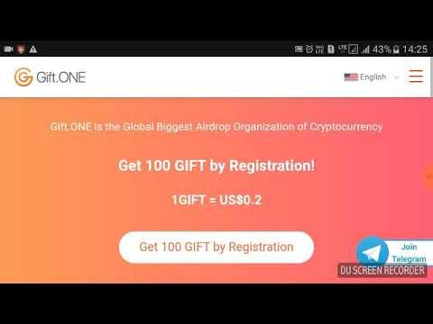 Gift.one || Big airdrop 200 Giftone Token 40$ sigh up bonus So join fast ( hindi)