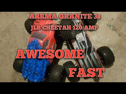 Two Awesome Rc Monster Trucks: JLB CHEETAH And The ARRMA GRANITE 3S BLX