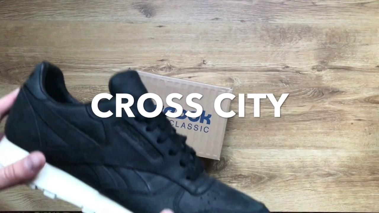 Кроссовки Reebok Classic Leather Lux J87658 CROSS CITY - YouTube dbbc2c594ba