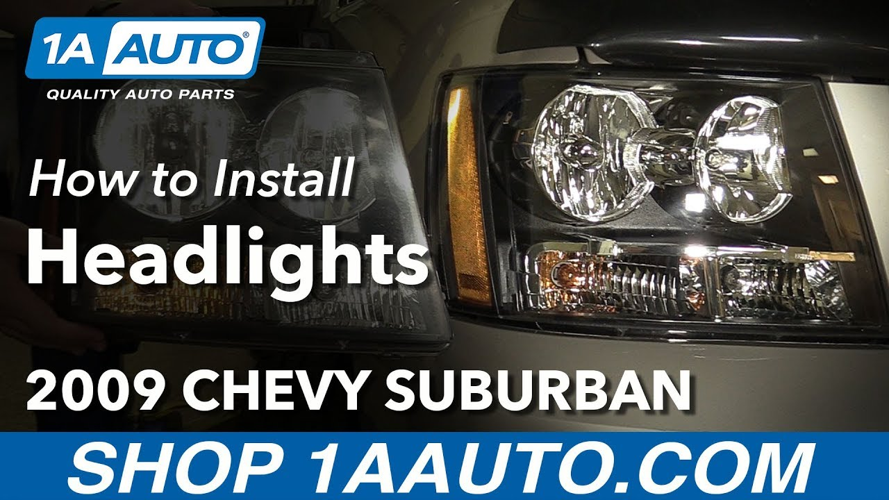 how to replace headlights 07 14 chevy suburban 1500 [ 1280 x 720 Pixel ]