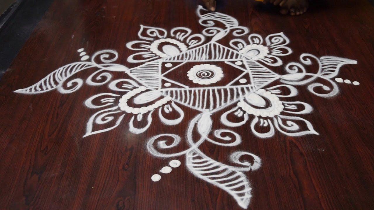 rangoli designs without dots video || rangoli kolam ...