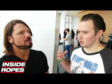 AJ Styles explains what'll happen when he faces Brock Lesnar, talks Triple H to SmackDown Live