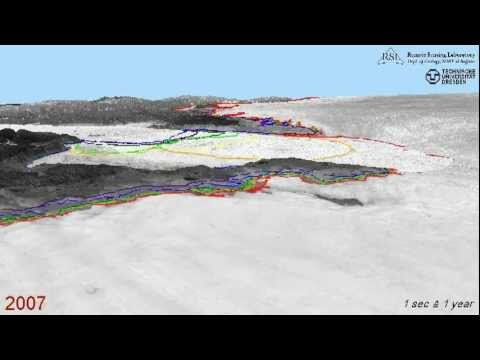 Visualization of outlet glacier changes at Jakobshavn Isbræ  - South1_margin_x025_x264