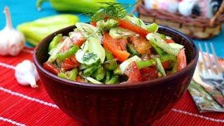 Передайте пожалуйста   Салат из летних овощей с чесноком