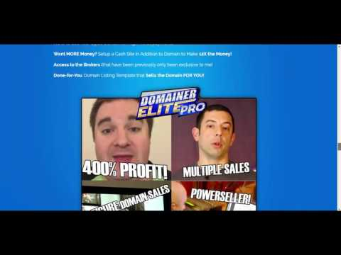 Domainer Elite PRO Software And Marketplace Review and Bonus 75%Discount