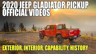 2020 Jeep Gladiator Official Videos - Exterior, Interior, Capability and History