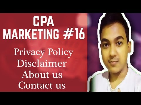 CPA Marketing #16 create a Privacy policy, Disclaimer, Contact us for Website or Landing page