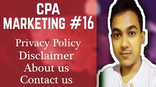 CPA Marketing #16 create a Privacy policy, Disclaimer, Contact us for Website or Landing page Mp3