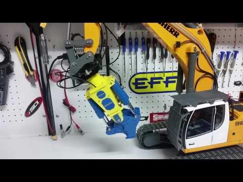 CSMI : Liebherr RC Excavator 960 Demolition shear test and demo