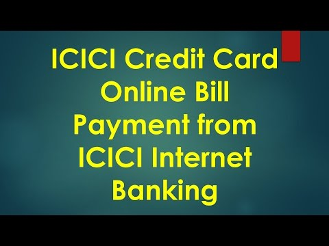 Icici Credit Card Bill Payment Using Icici Net Banking
