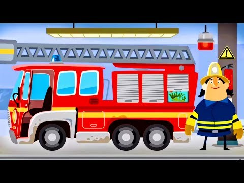 Thumbnail: Fire Engine & Firefighters - Game Cartoon For Children - FIRE TRUCK FOR KIDS : Little Fire Station