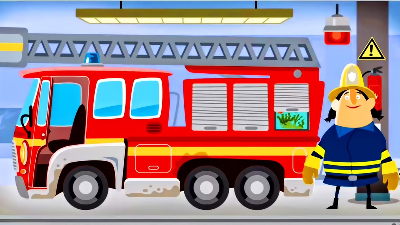 Image result for cartoon fire truck