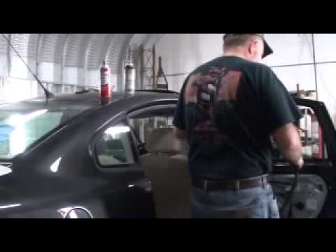 Replaceing the real door glass on a 4 door Passat or Audi..