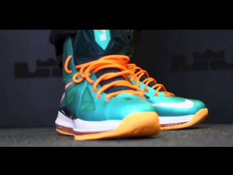 7d9b8c948a9d Lebron X Miami Dolphins On Feet Review 2013 ...