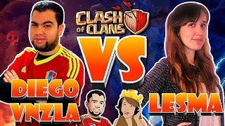 DiegoVnzla Vs Lesma VR - 1 Vs 1 Duelo Contra Invitados   Clash Of Clans