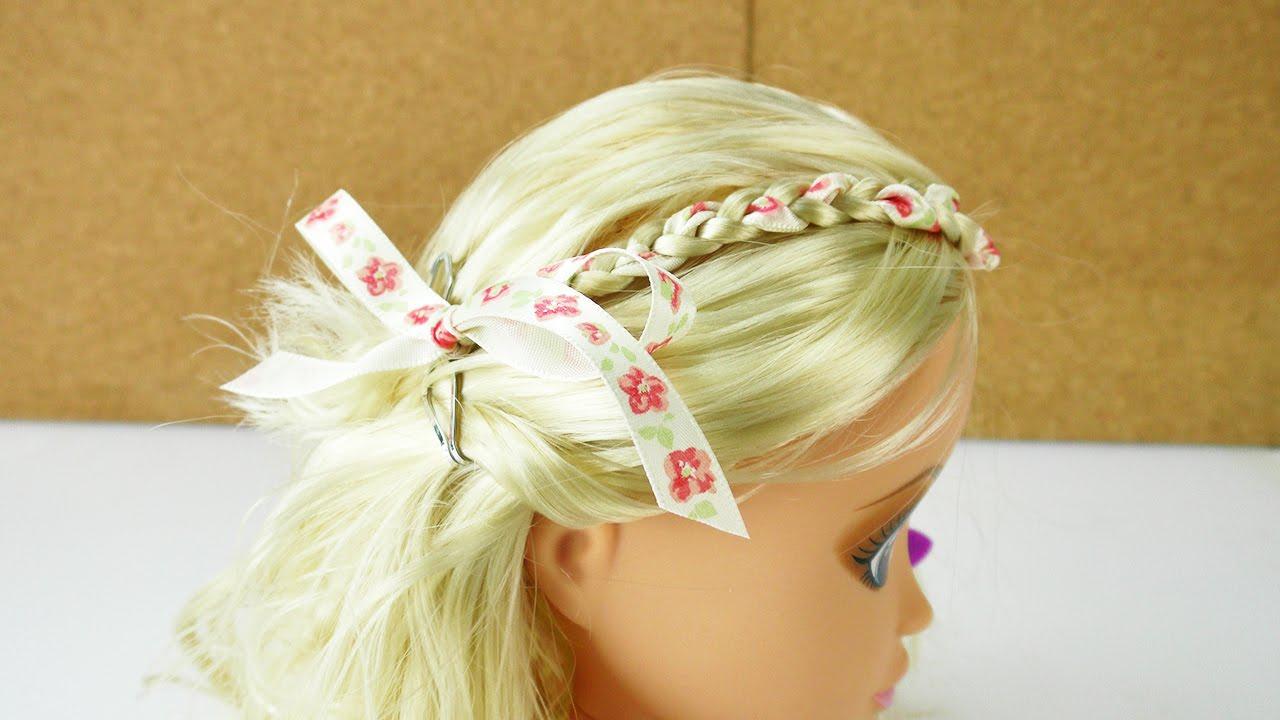 Haare Stylen Diy Schleifenband Einflechten Super Einfach Und Echt Schick