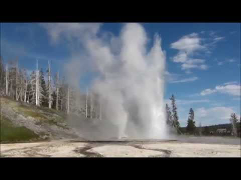 Yellowstone Park Geyser Compilation HD