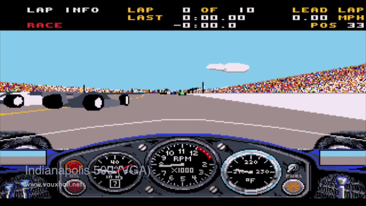 Indianapolis 500 The Simulation - Retro DOS IBM PC Game - Compare CGA, EGA  & VGA