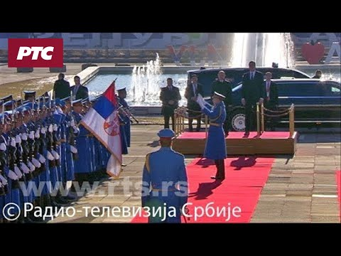 Doček Vladimir Putina ispred Palate 'Srbija'