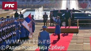 """Doček Vladimir Putina ispred Palate """"Srbija"""""""
