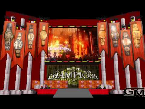 google sketchup wwe night of champions stage with intro