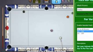 Miniclip 8 Ball Pool GuideLine in No GuideLine Room and DC Hack