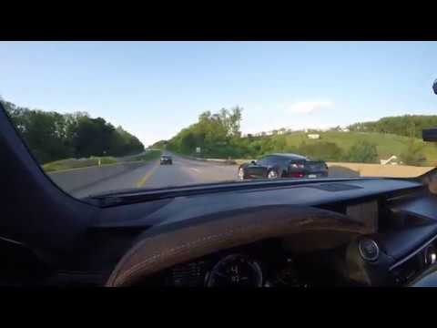 Supercharged Lexus RCF Playing with Chevrolet Corvette C7 Z06
