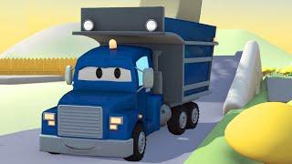 Carl el Camión Transformador y el Camión Volquete en Auto City   Dibujos animados para niños