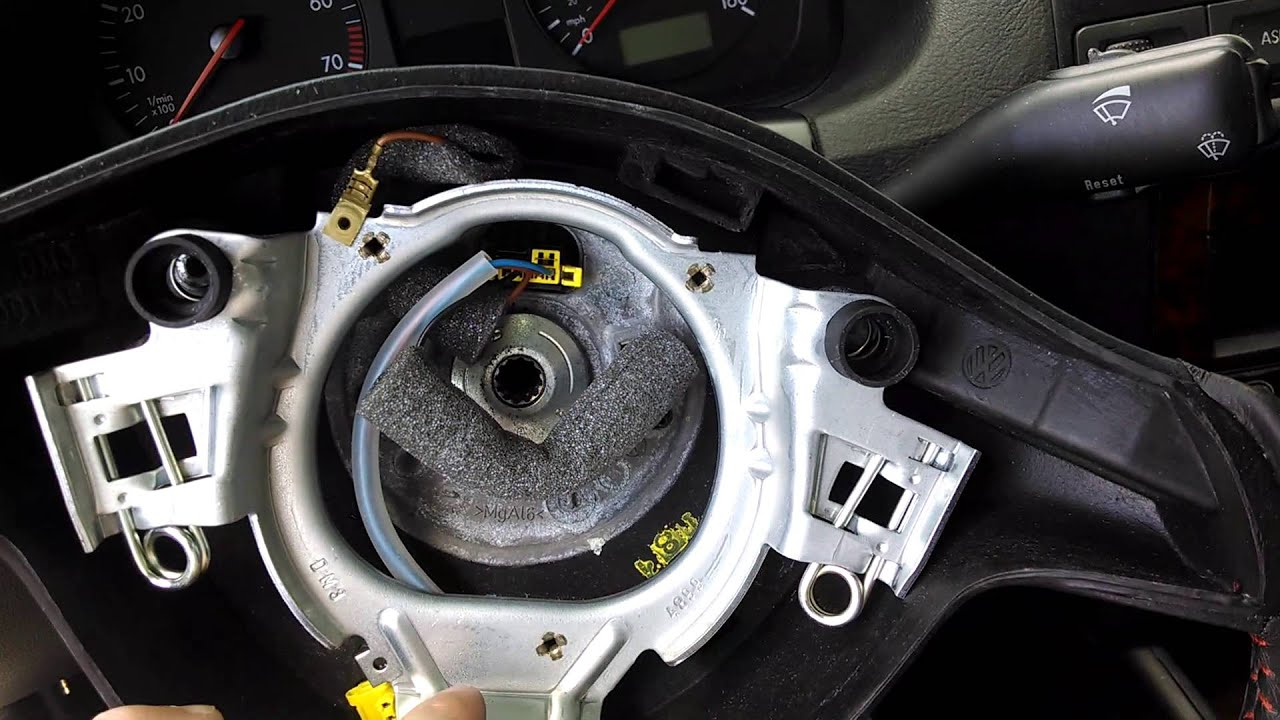 hight resolution of steering wheel mk4 golf to remove how vw jetta horn golf mk4 sensitivity steering youtube mod