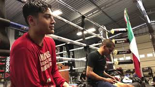 Hector Tanajara in Training Camp after 10 rounds of sparring
