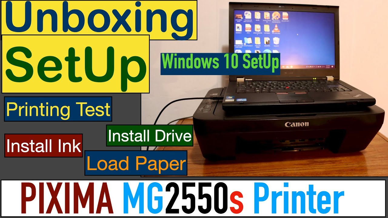 Canon PIXMA MG20s SetUp, Quick Unboxing, Install Ink, SetUp Win 20,  Scanning & Review.