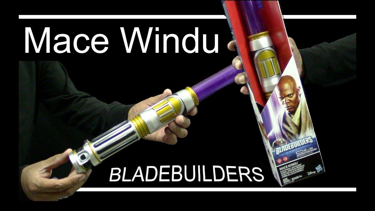 Mace Windu Lightsaber Electronico Bladebuilders Espanol Juguetes Hasbro Youtube