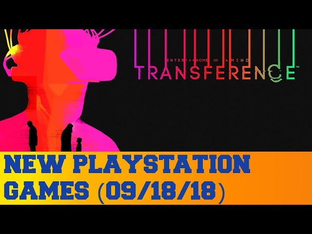 New PlayStation Games for September 18th 2018