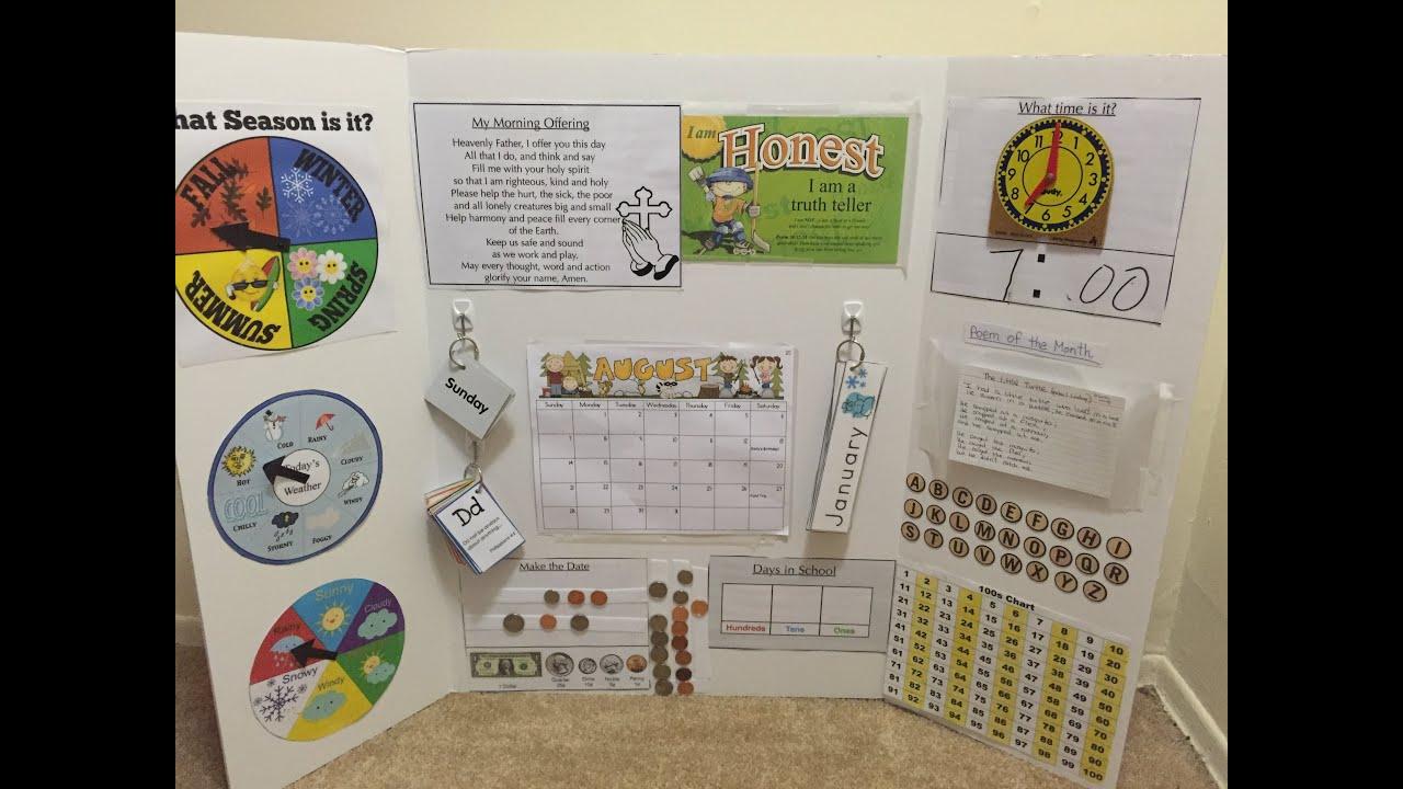 Diy Learning Calendar : Make your own circle time learning board prek