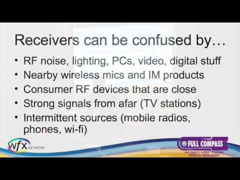 Wireless Microphone Usage in a Crowded Spectrum - Kevin Peckham at WFX