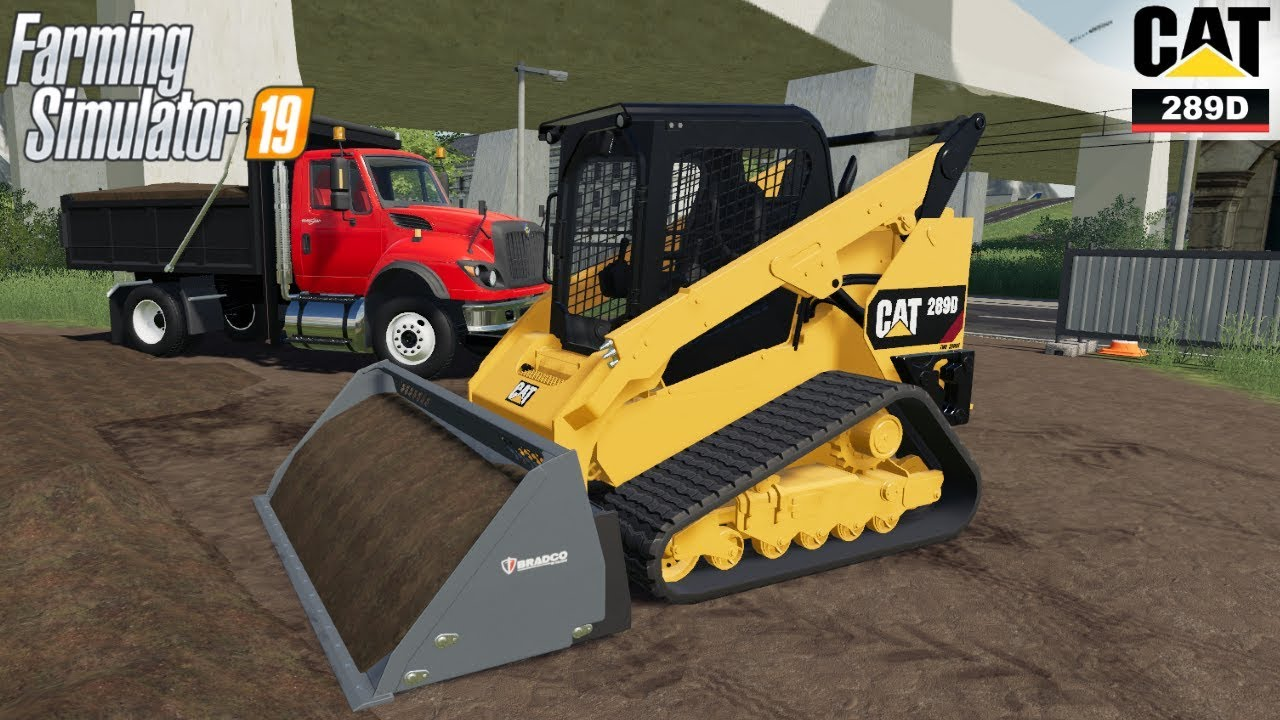 Farming Simulator 19 – CAT 289D Skidsteer Loads Dirt Into A Dump Truck