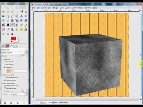 how to use textures in gimp
